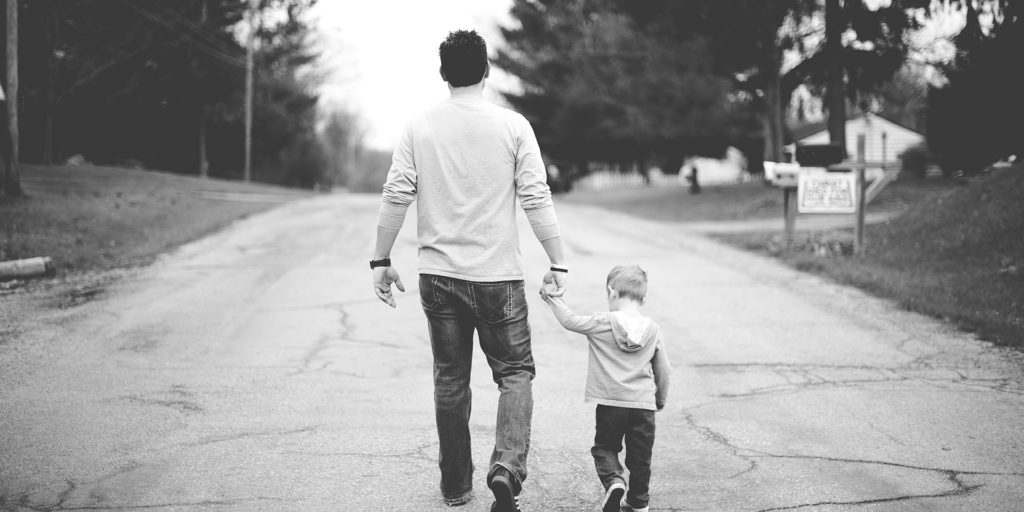 Dad-Son-Walking